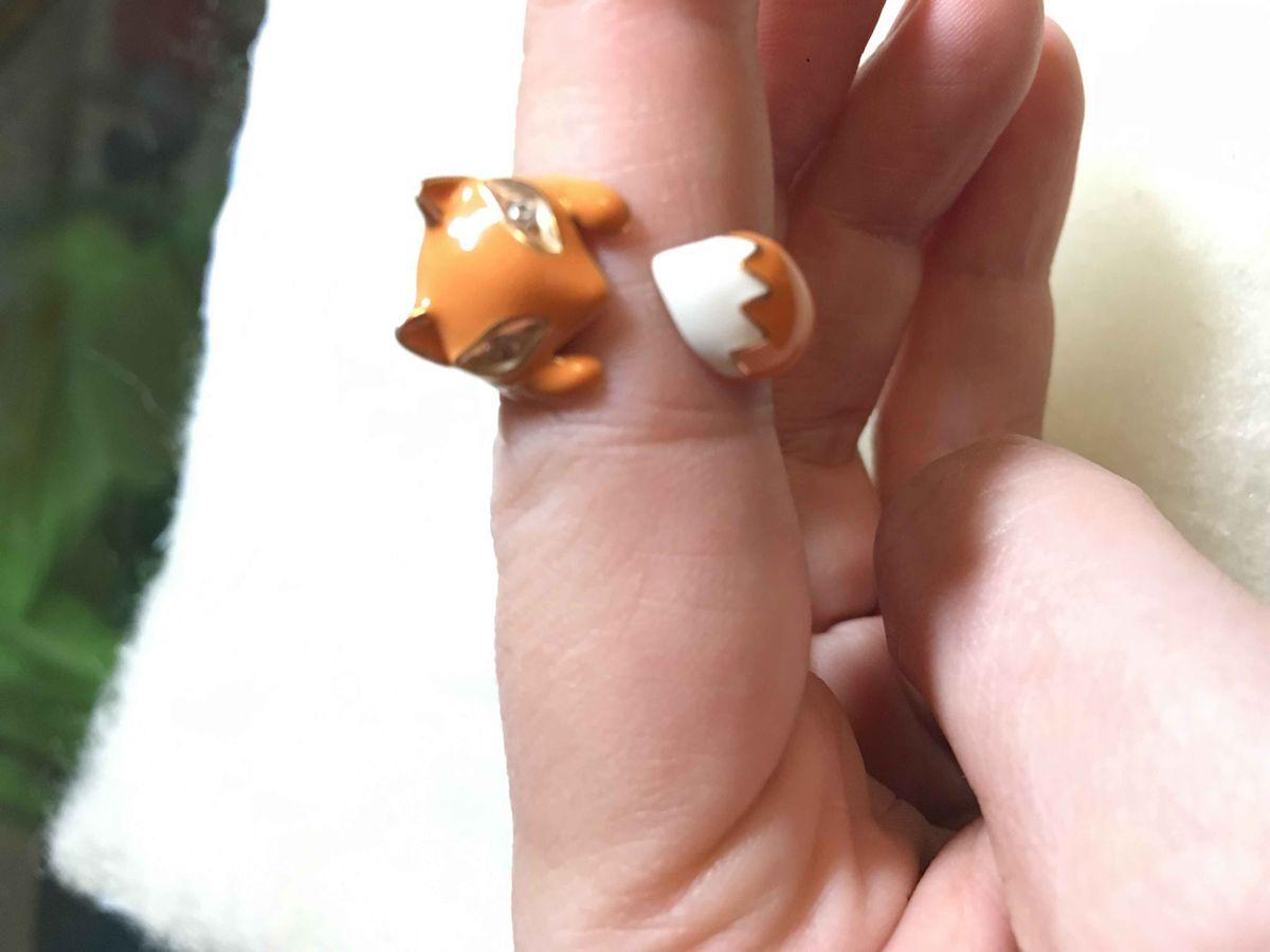 Кольцо с лисичкой
