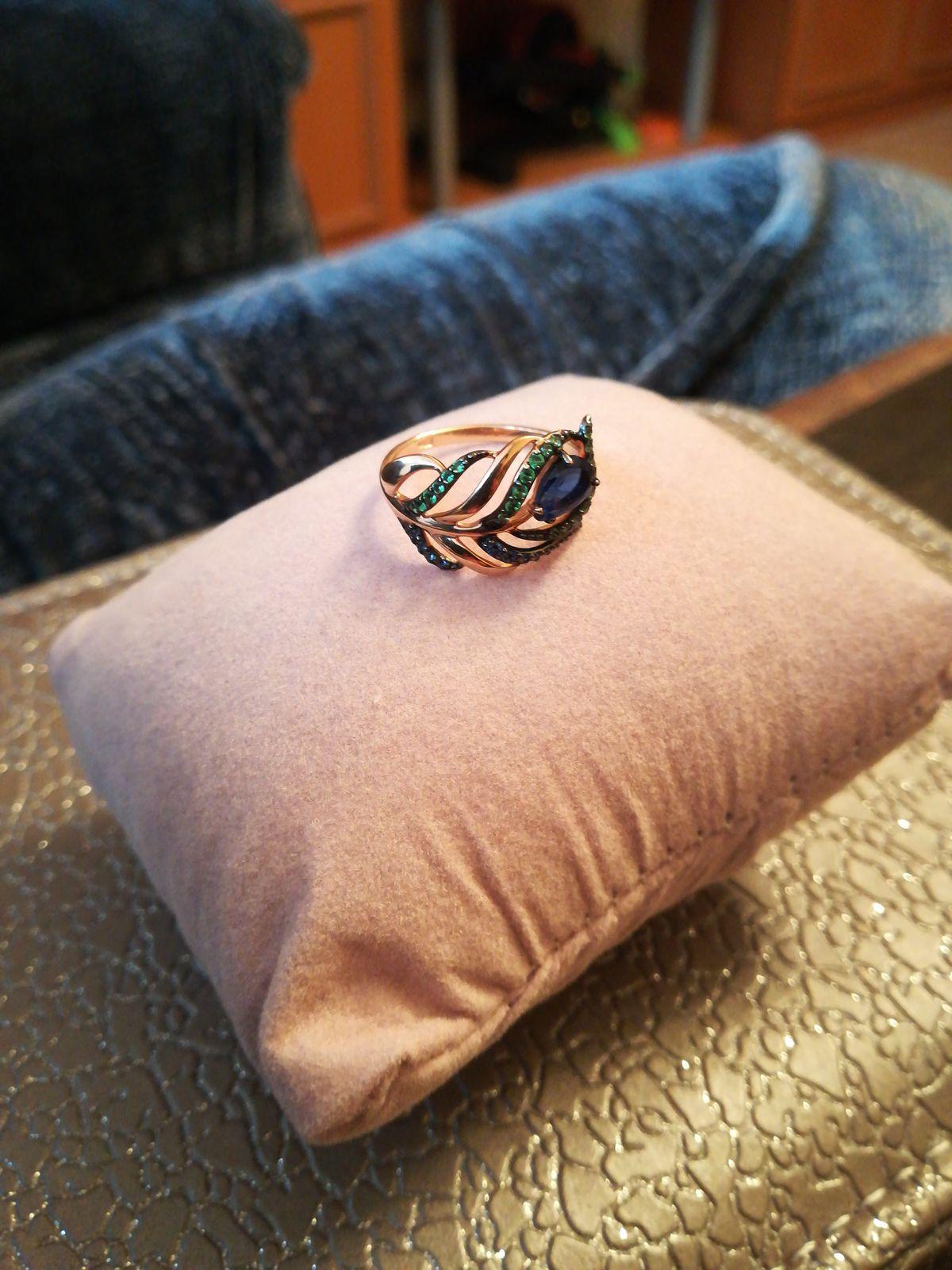 Кольцо в виде перышка