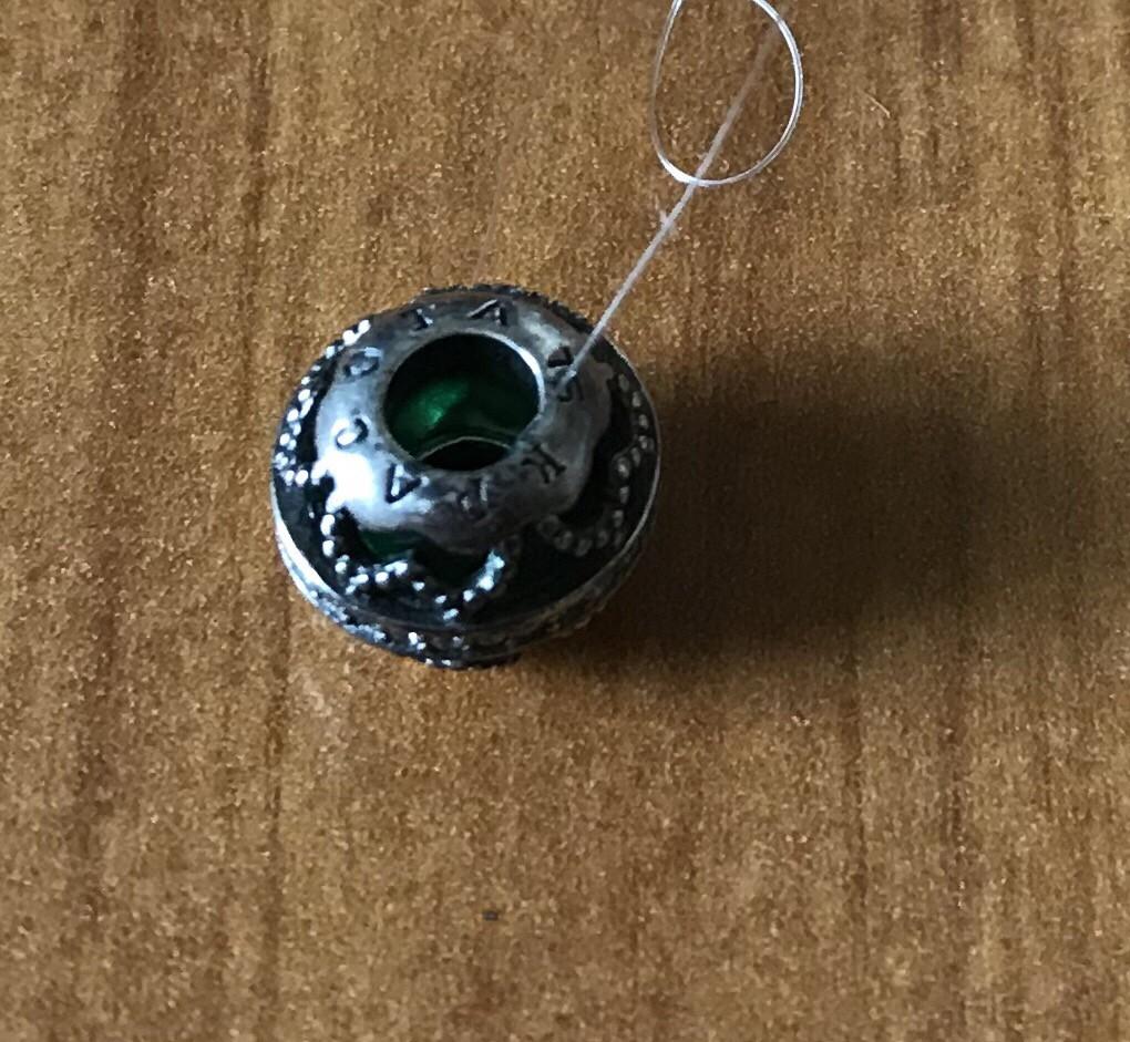 Серебрянная подвеска с алпанитом и фианитами