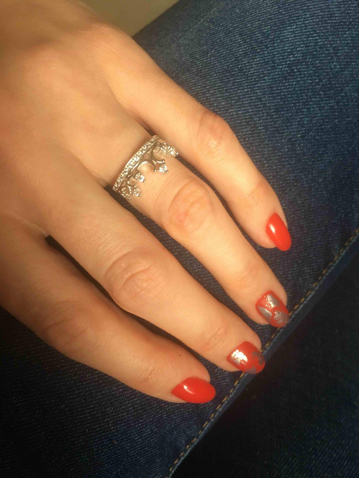 Серебрянное кольцо в виде короны