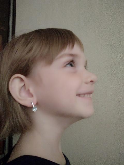Серёжки для маленькой принцессы.