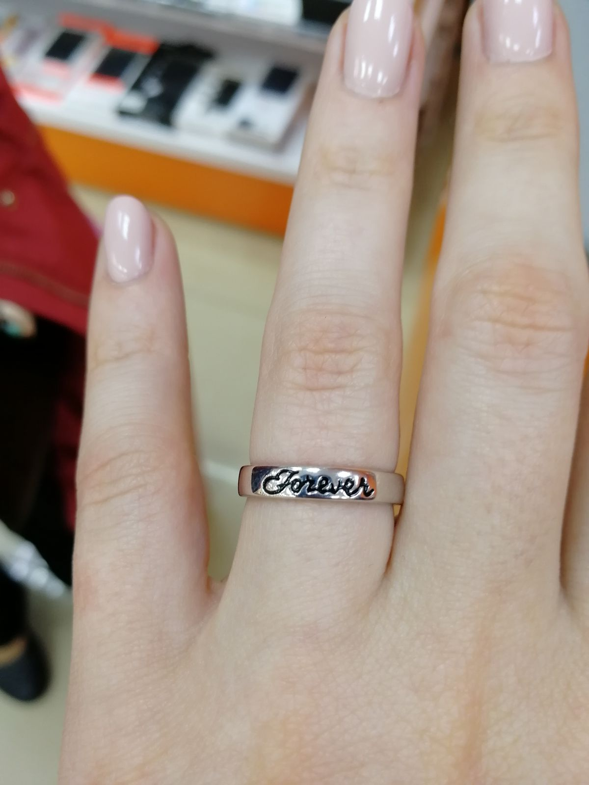 Серебряное кольцо Forever