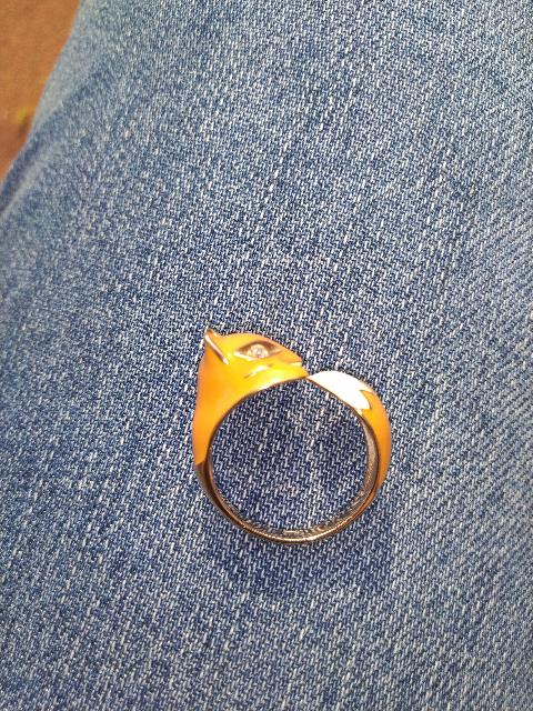 Кольцо лисичка)