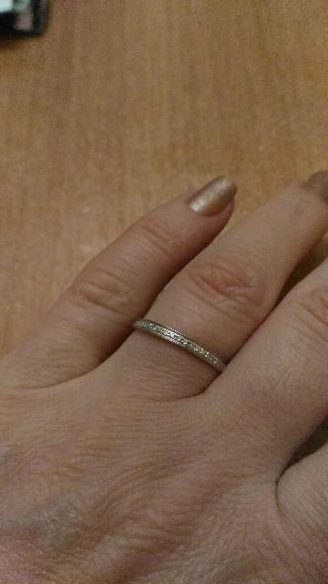 Золотое колечко с бриллиантами.
