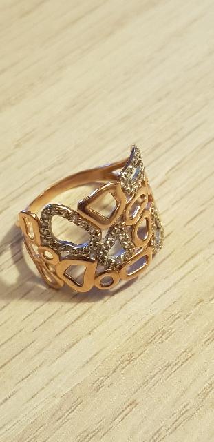 Широкое золотое кольцо