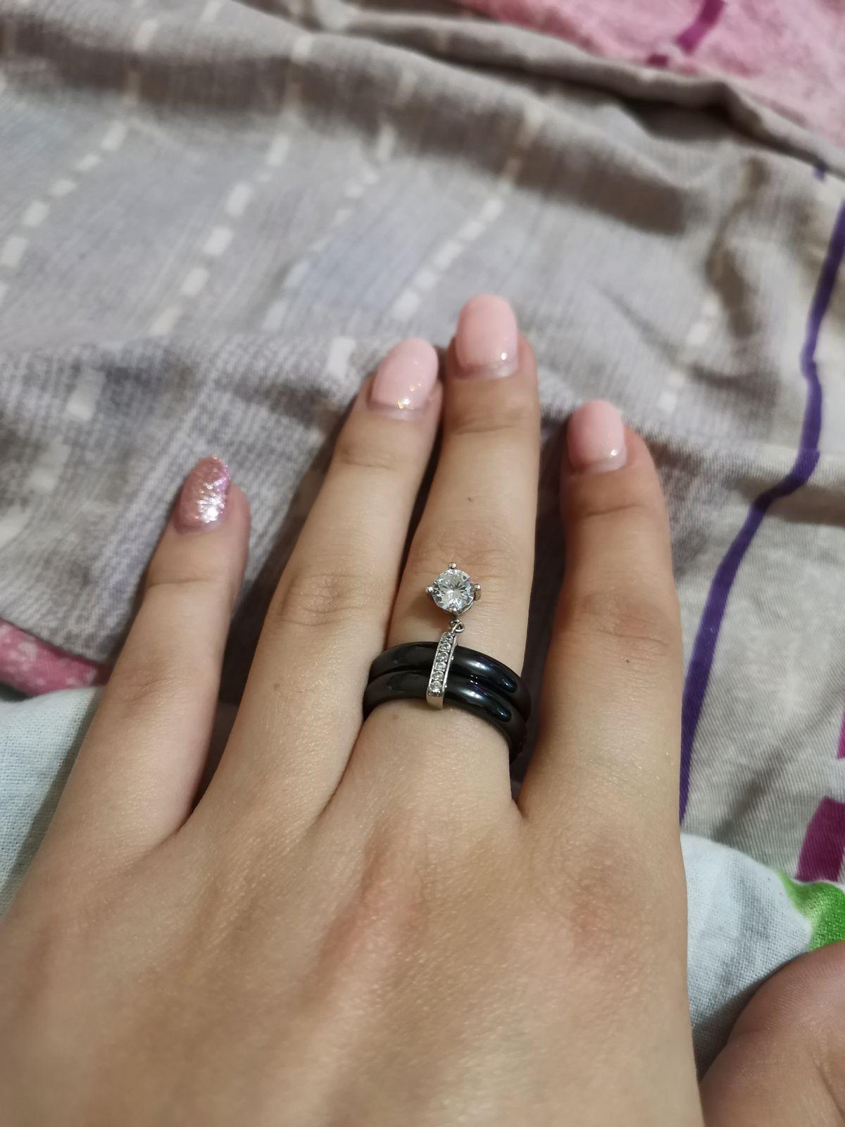 Кольцо чёрное керамическое