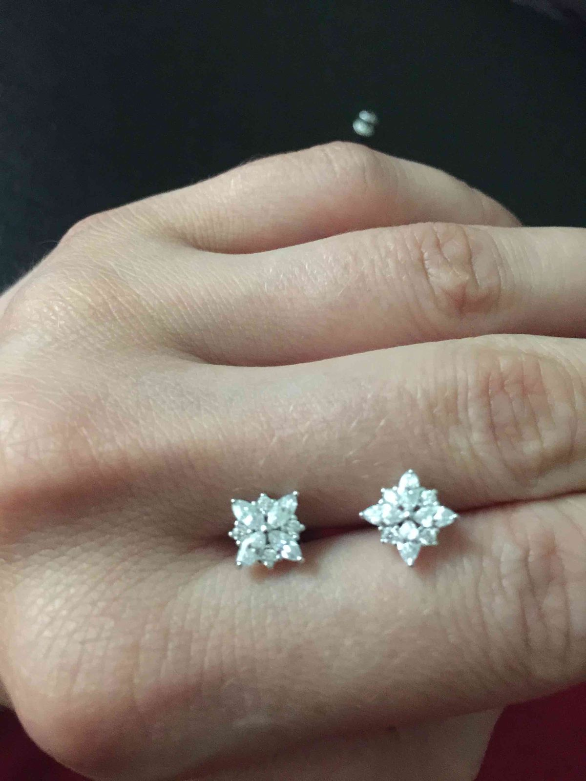 Пуссеты, как с бриллиантами.