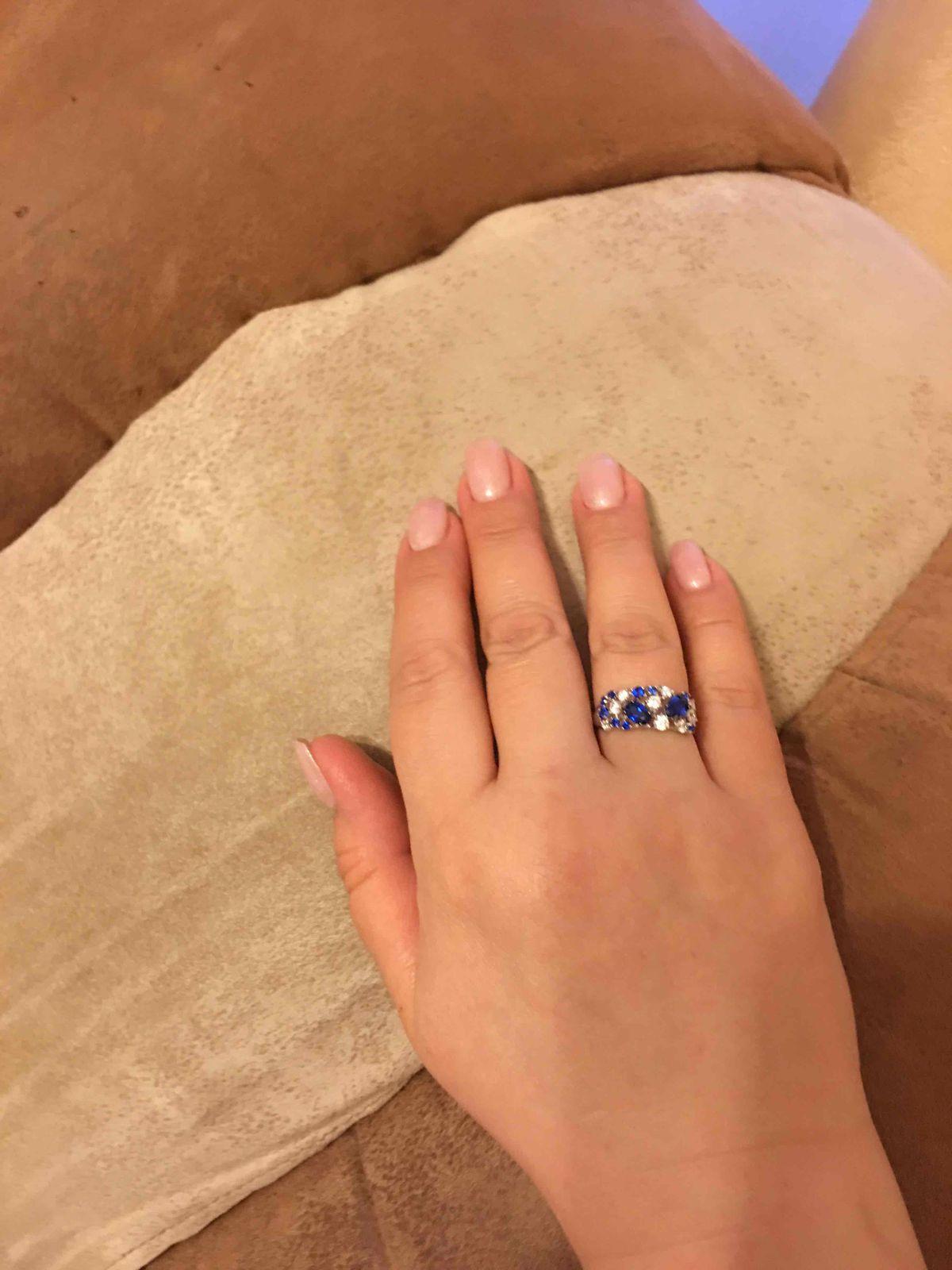 Кольцо серебро 925 с фианитами