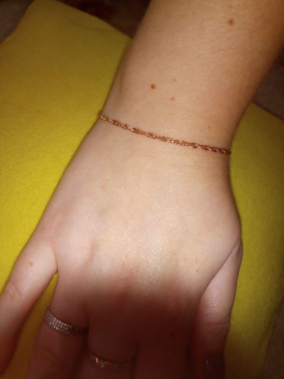 Красивый позолоченный браслет 😍