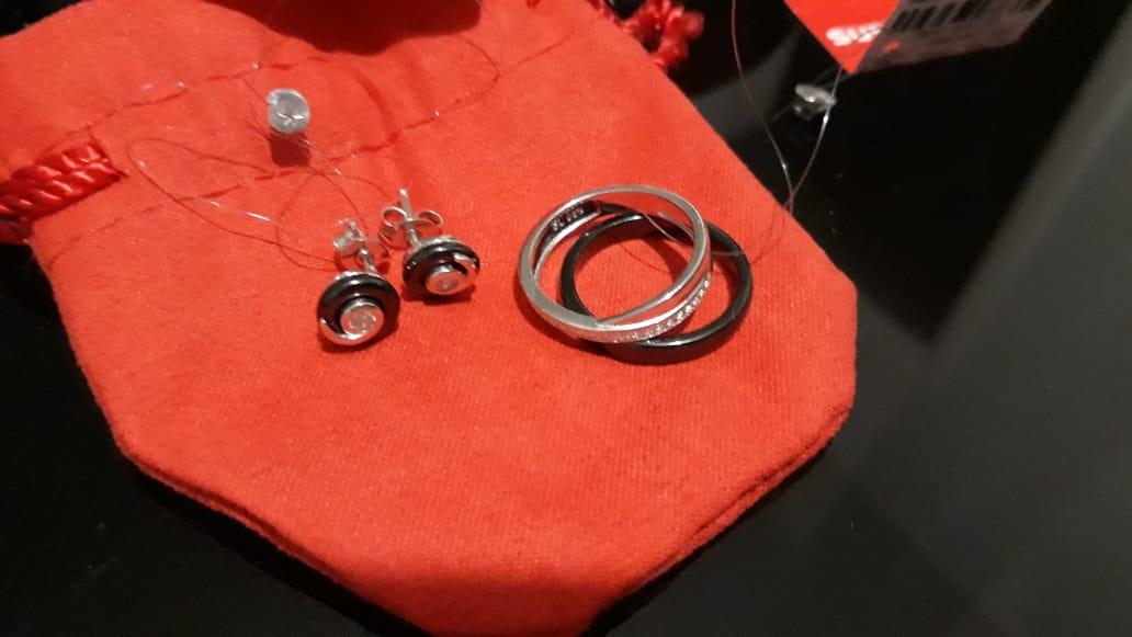 Двойное керамическое кольцо, с подарком