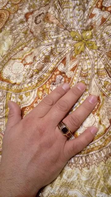 Золотое кольцо. Подарок мужу))))