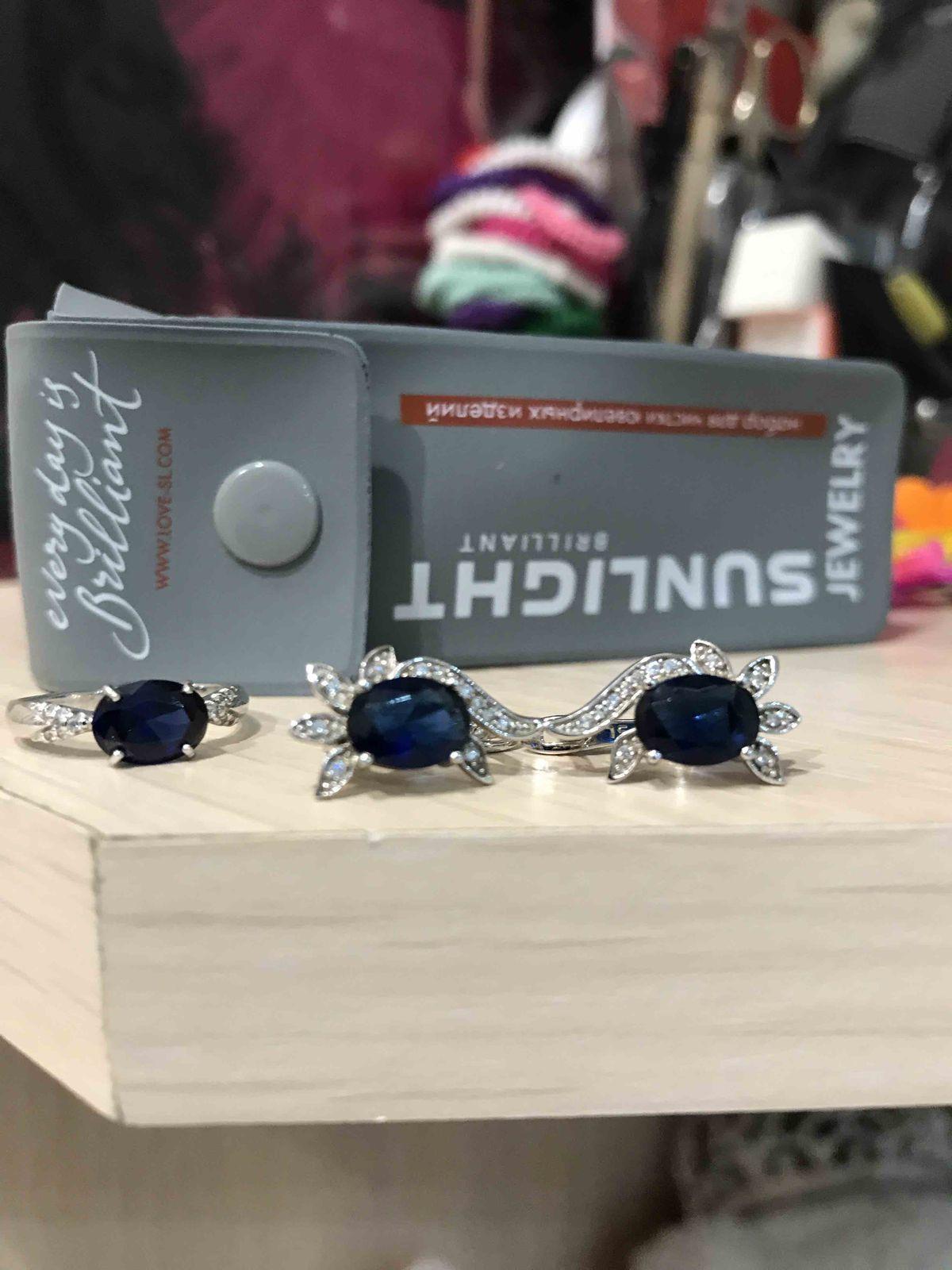 Кольцо с синим аметистом