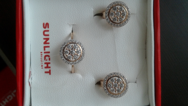 Серьги и кольцо купила на подарок невестке очень дешево по клубной карте.