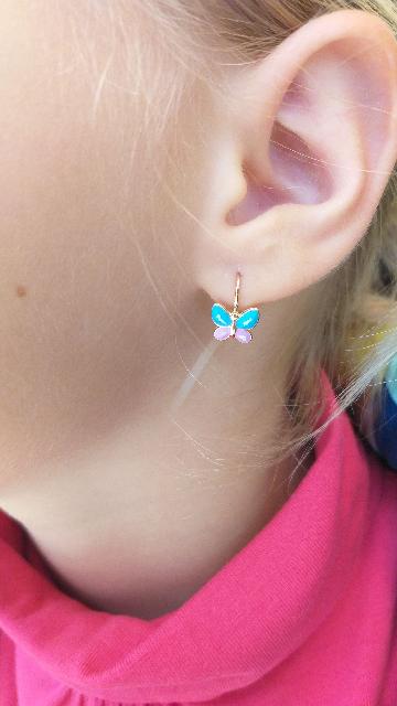 Сережки детские,бабочки