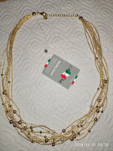 Шейное украшение из серебра