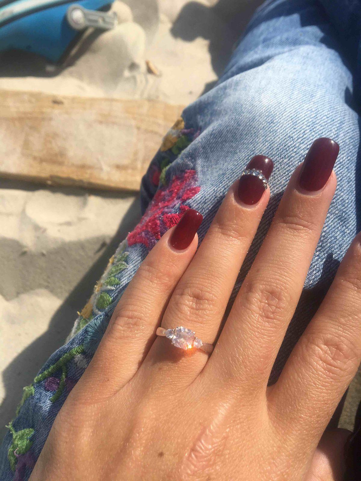 Серебряноое кольцо с фианитом
