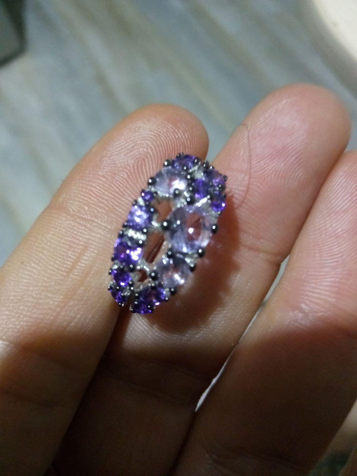 Кольцо серебро фианит,алпанит