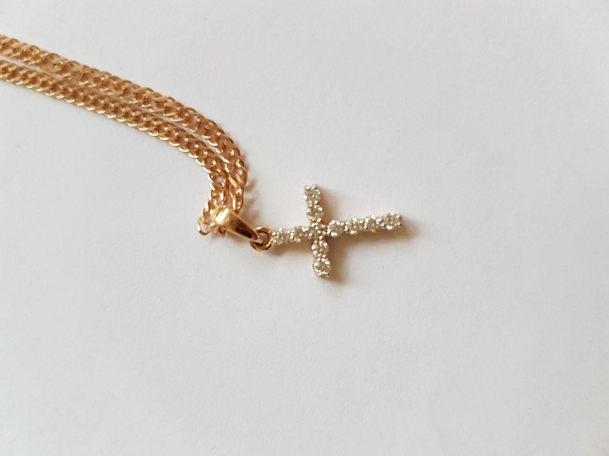 Потрясающий, бриллиантовый крестик!