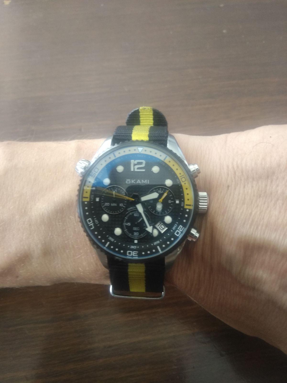 Часы okami с хронографом